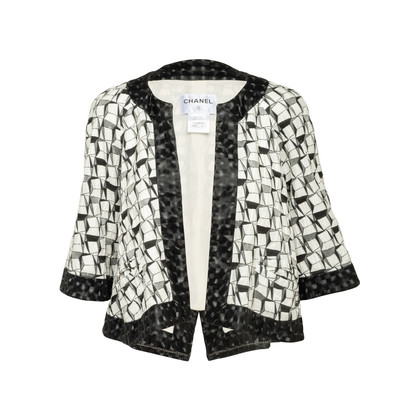 Authentic Second Hand Chanel Abstract Jacquard Jacket (PSS-852-00039)