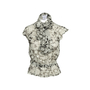 Authentic Second Hand Chanel Floral Silk Top with Shawl (PSS-990-00360) - Thumbnail 0