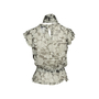 Authentic Second Hand Chanel Floral Silk Top with Shawl (PSS-990-00360) - Thumbnail 1