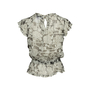 Authentic Second Hand Chanel Floral Silk Top with Shawl (PSS-990-00360) - Thumbnail 3