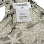 Authentic Second Hand Chanel Floral Silk Top with Shawl (PSS-990-00360) - Thumbnail 4