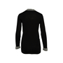 Authentic Second Hand Chanel Contrast Ribbed Long Cardigan (PSS-990-00363) - Thumbnail 1