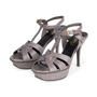 Authentic Second Hand Yves Saint Laurent Lizard Embossed Tribute Sandals (PSS-A12-00026) - Thumbnail 3