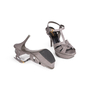 Authentic Second Hand Yves Saint Laurent Lizard Embossed Tribute Sandals (PSS-A12-00026) - Thumbnail 5