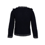 Authentic Second Hand Chanel Pearl Stud Knit Jacket (PSS-990-00365) - Thumbnail 1