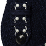 Authentic Second Hand Chanel Pearl Stud Knit Jacket (PSS-990-00365) - Thumbnail 5