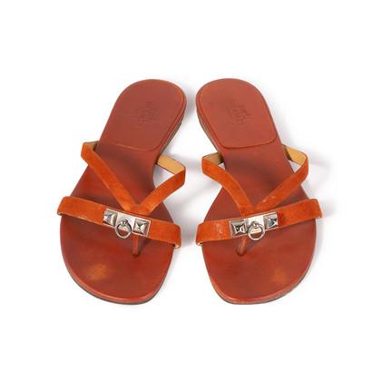 Authentic Second Hand Hermès Corfou Flats (PSS-515-00388)