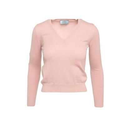 Authentic Second Hand Prada V-Neck Cashmere Sweater (PSS-515-00422)