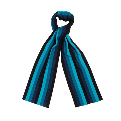 Authentic Second Hand Gucci Knit Striped Scarf (PSS-515-00432)