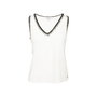 Authentic Second Hand Chanel Braided Trim Sleeveless Shirt (PSS-990-00395) - Thumbnail 0