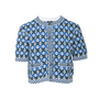 Authentic Second Hand Chanel 19P Logo Short Sleeve Cardigan (PSS-990-00398) - Thumbnail 0