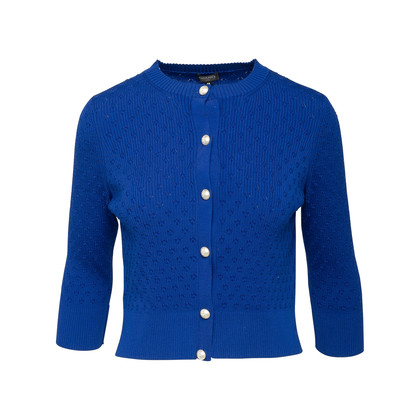 Authentic Second Hand Chanel La Pausa Pearl Button Cardigan (PSS-990-00399)