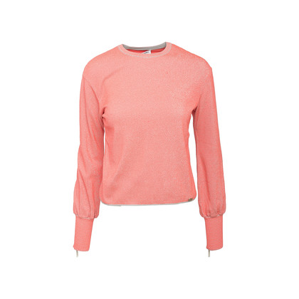 Authentic Second Hand Chanel Puff Sleeve Zip Sweater (PSS-990-00403)