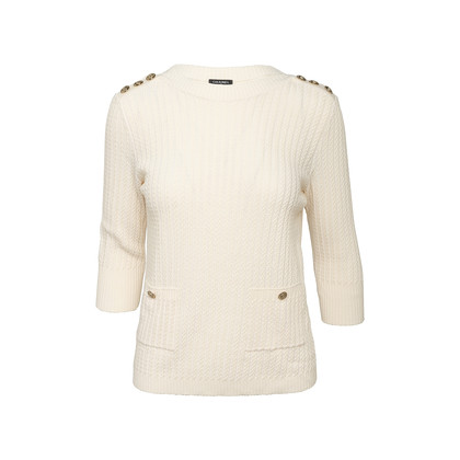 Authentic Second Hand Chanel Anchor Button Sweater (PSS-990-00404)