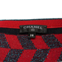 Authentic Second Hand Chanel Contrast Stripe Knit Top (PSS-990-00407) - Thumbnail 2