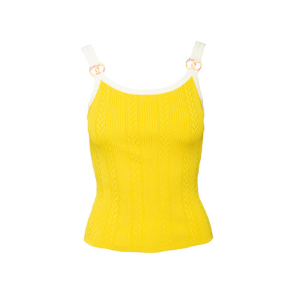 Authentic Second Hand Chanel Gradient Logo Knit Tank (PSS-990-00402)