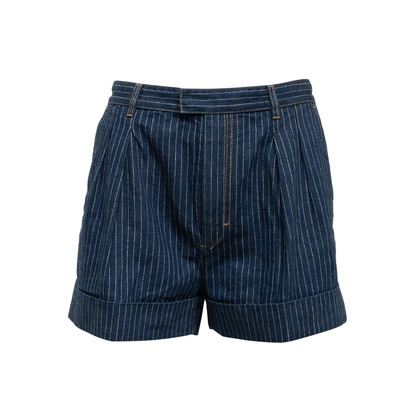 Authentic Second Hand Louis Vuitton Pinstripe Denim Shorts (PSS-990-00421)