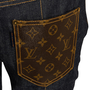 Authentic Second Hand Louis Vuitton Indigo Monogram Patch Jeans (PSS-990-00431) - Thumbnail 2