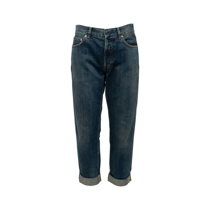 Authentic Second Hand Christian Dior Logo Boyfriend Cropped Jeans (PSS-990-00432)