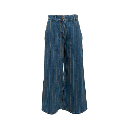 Authentic Second Hand Chanel Stripe Panel Culotte Jeans (PSS-990-00434)