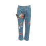Authentic Second Hand Fendi Monster Eye Boyfriend Jeans (PSS-990-00427) - Thumbnail 0