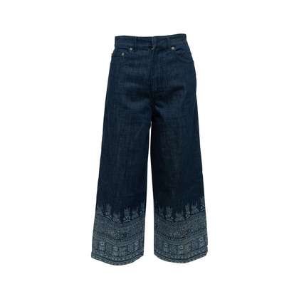 Authentic Second Hand Christian Dior Printed Wide Leg Jeans (PSS-990-00430)