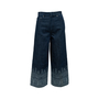 Authentic Second Hand Christian Dior Printed Wide Leg Jeans (PSS-990-00430) - Thumbnail 0