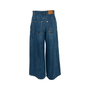 Authentic Second Hand Chanel Distressed Wide Leg Jeans (PSS-990-00435) - Thumbnail 1