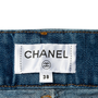 Authentic Second Hand Chanel Distressed Wide Leg Jeans (PSS-990-00435) - Thumbnail 3