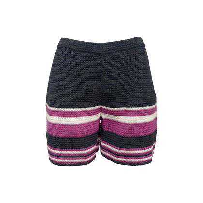Authentic Second Hand Chanel Knit Stripe Shorts (PSS-990-00449)