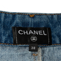 Authentic Second Hand Chanel Stripe Panel Culotte Jeans (PSS-990-00434) - Thumbnail 2
