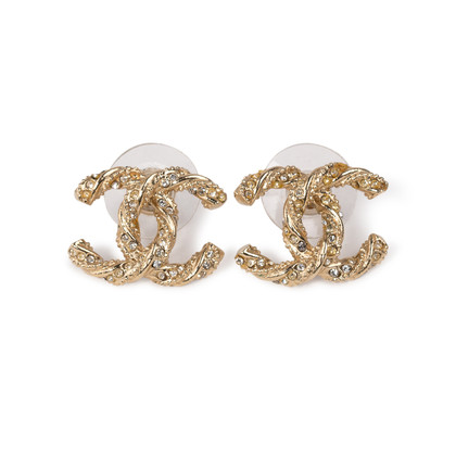 Authentic Second Hand Chanel CC Twisted Earrings (PSS-A34-00007)