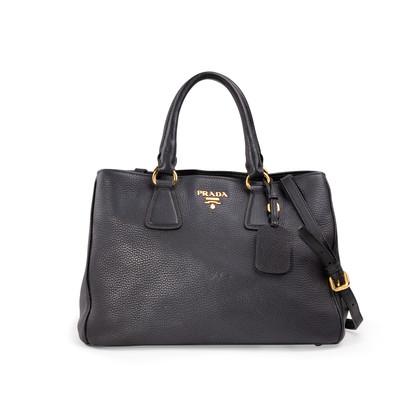 Authentic Second Hand Prada Shopping Vitello Daino Satchel (PSS-A34-00032)