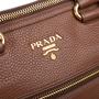 Authentic Second Hand Prada Bauletto Vitello Daino Palissandro Tote (PSS-A34-00035) - Thumbnail 4