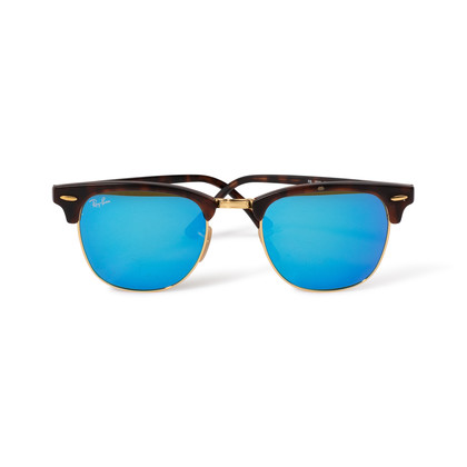 Authentic Second Hand Ray Ban Clubmaster Flash Lens Sunglasses (PSS-A34-00013)