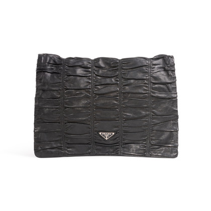 Authentic Second Hand Prada Nappa Gaufre Flap Clutch (PSS-A32-00001)