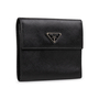 Authentic Second Hand Prada Saffiano Short Flap Wallet (PSS-A32-00006) - Thumbnail 1