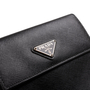 Authentic Second Hand Prada Saffiano Short Flap Wallet (PSS-A32-00006) - Thumbnail 4