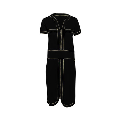 Authentic Second Hand Chanel Contrast Trim Knit Dress (PSS-956-00088)