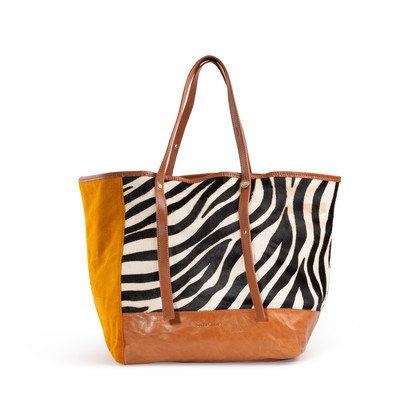 Authentic Second Hand See by Chloe Zebra Calf Hair Tote (PSS-A32-00004)