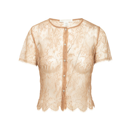 Authentic Second Hand Collette Dinnigan Short Sleeve Lace Top (PSS-A32-00020)