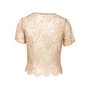 Authentic Second Hand Collette Dinnigan Short Sleeve Lace Top (PSS-A32-00020) - Thumbnail 1