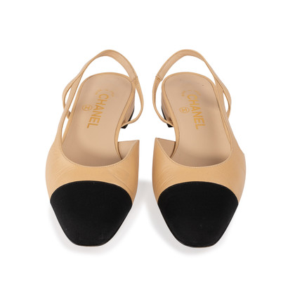 Authentic Second Hand Chanel Two Tone Slingbacks (PSS-A47-00001)
