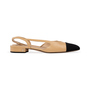 Authentic Second Hand Chanel Two Tone Slingbacks (PSS-A47-00001) - Thumbnail 1