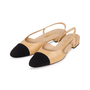 Authentic Second Hand Chanel Two Tone Slingbacks (PSS-A47-00001) - Thumbnail 3