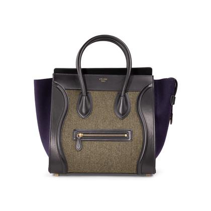 Authentic Second Hand Céline Felt Mini Luggage Bag (PSS-A47-00003)
