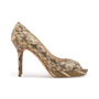 Authentic Second Hand Jimmy Choo Python Peep Toe Sandals (PSS-A26-00010) - Thumbnail 1