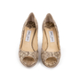 Authentic Second Hand Jimmy Choo Python Peep Toe Sandals (PSS-A26-00010) - Thumbnail 0