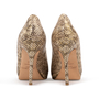 Authentic Second Hand Jimmy Choo Python Peep Toe Sandals (PSS-A26-00010) - Thumbnail 2