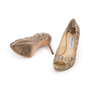 Authentic Second Hand Jimmy Choo Python Peep Toe Sandals (PSS-A26-00010) - Thumbnail 4